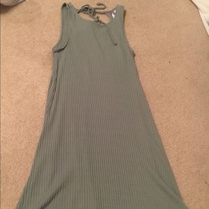 Olive green cut out dress